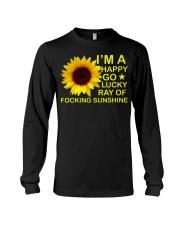 i'm happy go lucky ray of focking sunshine Long Sleeve Tee thumbnail
