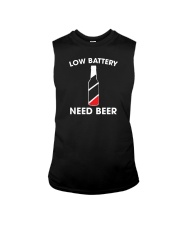 Low Battery Need Beer Sleeveless Tee thumbnail