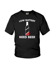 Low Battery Need Beer Youth T-Shirt thumbnail