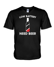 Low Battery Need Beer V-Neck T-Shirt thumbnail