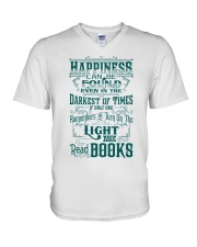 HAPPINESS IS READ BOOKS V-Neck T-Shirt thumbnail