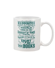 HAPPINESS IS READ BOOKS Mug front