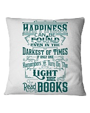 HAPPINESS IS READ BOOKS Square Pillowcase thumbnail