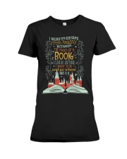 I READ TO ESCAPE FROM REALITY Premium Fit Ladies Tee thumbnail