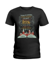 I READ TO ESCAPE FROM REALITY Ladies T-Shirt thumbnail