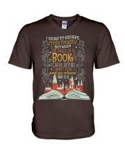 I READ TO ESCAPE FROM REALITY V-Neck T-Shirt thumbnail