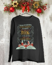I READ TO ESCAPE FROM REALITY Long Sleeve Tee lifestyle-holiday-longsleeves-front-2
