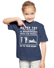 Never try to Punish a Bookworm Youth T-Shirt lifestyle-youth-tshirt-front-2