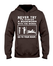 Never try to Punish a Bookworm Hooded Sweatshirt thumbnail