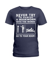 Never try to Punish a Bookworm Ladies T-Shirt thumbnail
