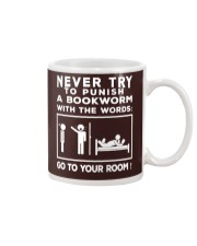 Never try to Punish a Bookworm Mug thumbnail