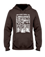 How Reading Addicts see Libraries Hooded Sweatshirt thumbnail