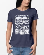 How Reading Addicts see Libraries Ladies T-Shirt lifestyle-women-crewneck-front-10