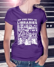 How Reading Addicts see Libraries Ladies T-Shirt lifestyle-women-crewneck-front-7