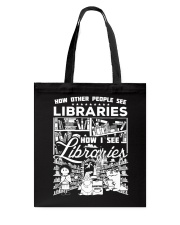 How Reading Addicts see Libraries Tote Bag thumbnail