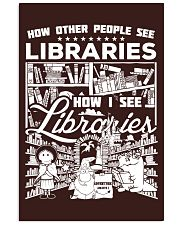 How Reading Addicts see Libraries 24x36 Poster front