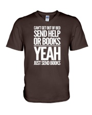 Just Send BOOKS V-Neck T-Shirt tile