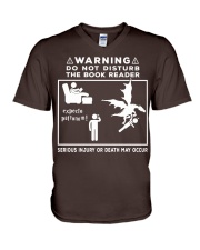 DO NOT DISTURB THE BOOK READER V-Neck T-Shirt thumbnail