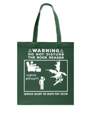 DO NOT DISTURB THE BOOK READER Tote Bag tile