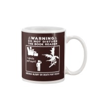 DO NOT DISTURB THE BOOK READER Mug tile