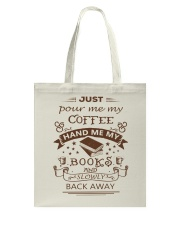 BOOKS and COFFEE- HAPPY PLACE Tote Bag thumbnail