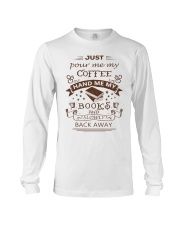 BOOKS and COFFEE- HAPPY PLACE Long Sleeve Tee thumbnail
