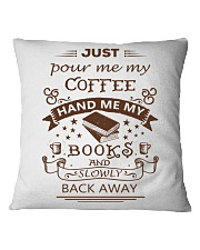 BOOKS and COFFEE- HAPPY PLACE Square Pillowcase thumbnail