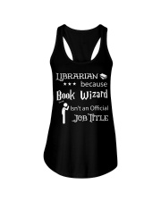 Librarian -  Book Wizard Ladies Flowy Tank tile