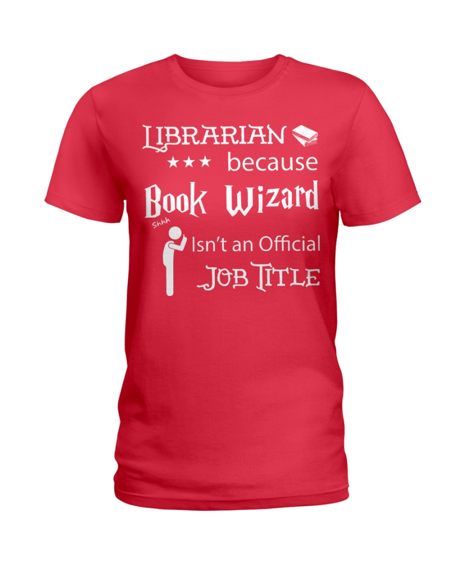 Librarian -  Book Wizard Ladies T-Shirt