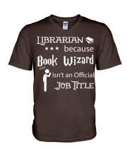 Librarian -  Book Wizard V-Neck T-Shirt tile