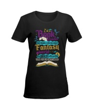 I'm A Book Reader-I Live in a Crazy Fantasy World Ladies T-Shirt women-premium-crewneck-shirt-front