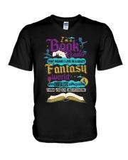 I'm A Book Reader-I Live in a Crazy Fantasy World V-Neck T-Shirt thumbnail