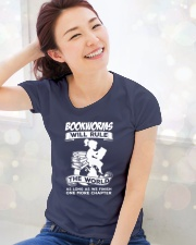 Bookworms Will Rule the World Ladies T-Shirt lifestyle-holiday-womenscrewneck-front-1
