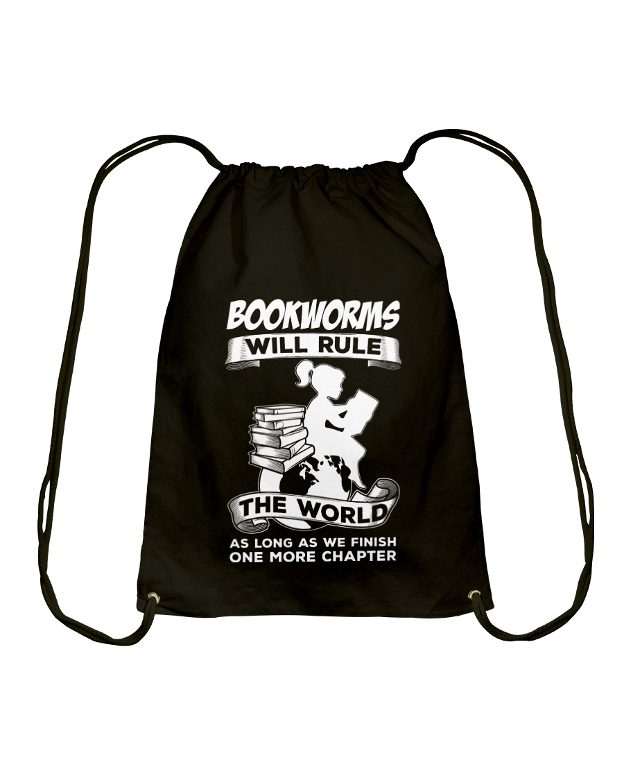Bookworms Will Rule the World Drawstring Bag