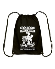 Bookworms Will Rule the World Drawstring Bag thumbnail