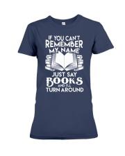Just say Books Premium Fit Ladies Tee thumbnail
