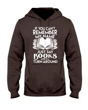 Just say Books Hooded Sweatshirt thumbnail
