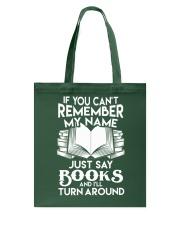 Just say Books Tote Bag thumbnail