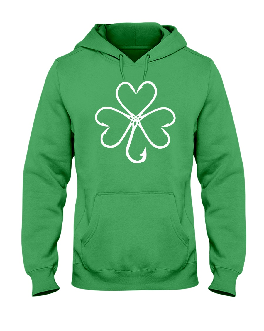 fishing hook shamrock Hooded Sweatshirt