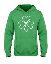 fishing hook shamrock Hooded Sweatshirt front