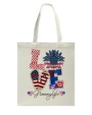 Flag Love Grannylife Sunflower Tote Bag thumbnail