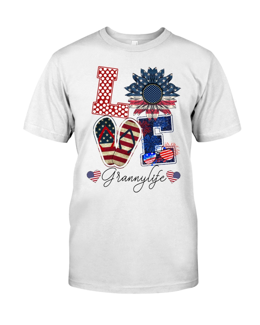 Flag Love Grannylife Sunflower Classic T-Shirt