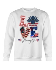 Flag Love Grannylife Sunflower Crewneck Sweatshirt thumbnail
