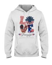 Flag Love Grannylife Sunflower Hooded Sweatshirt thumbnail