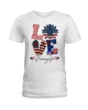 Flag Love Grannylife Sunflower Ladies T-Shirt thumbnail