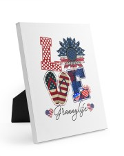 Flag Love Grannylife Sunflower 8x10 Easel-Back Gallery Wrapped Canvas thumbnail