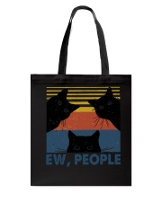 Vintage Black Cat Art Ew People Tote Bag thumbnail