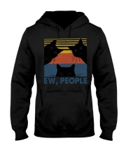 Vintage Black Cat Art Ew People Hooded Sweatshirt thumbnail