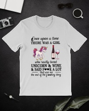 Girl Love Unicorn and Wine Said Classic T-Shirt lifestyle-mens-crewneck-front-16