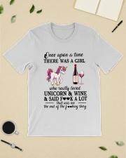 Girl Love Unicorn and Wine Said Classic T-Shirt lifestyle-mens-crewneck-front-19